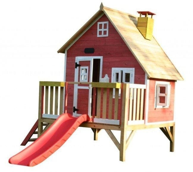 Whacky Penthouse Wooden Cubby Red