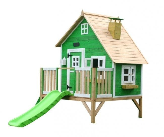Whacky Penthouse Wooden Cubby Green