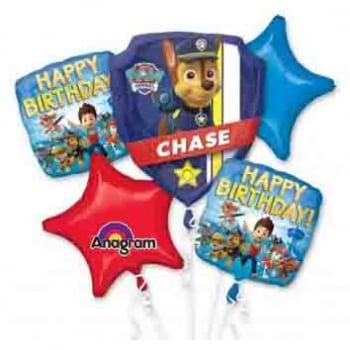 Paw Patrol Balloon Bouquet Happy Birthday!