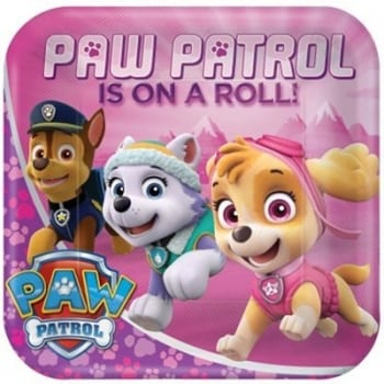 Paw Patrol Girls Dinner Plates Square