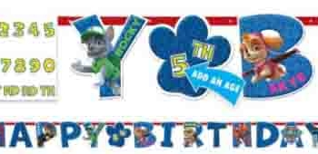 Paw Patrol Add an Age Letter Banner Kit