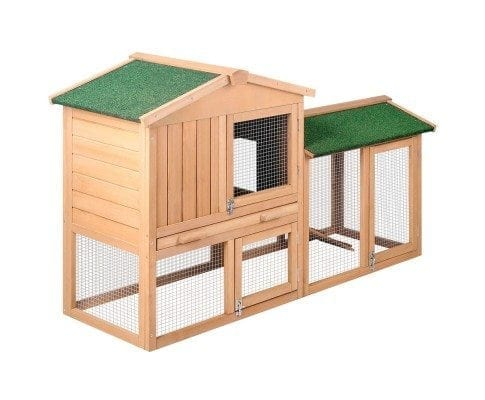 Large Rabbit Hutch With Two Storeys And Run Clever Ideas