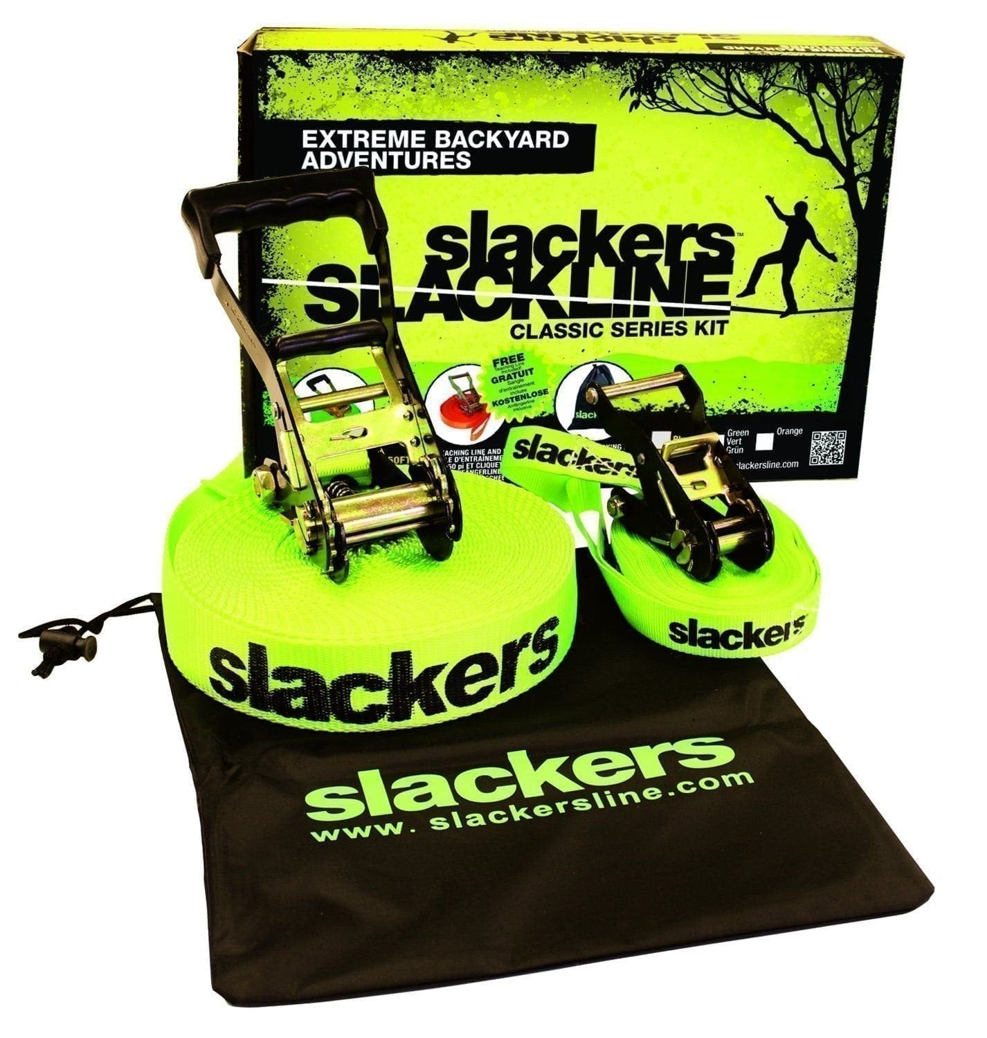 Slackers Slackline and Ninja Intro Kit