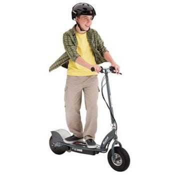 Razor Electric E300 Electric 24v Scooter with Twist-grip Acceleration Control – Grey