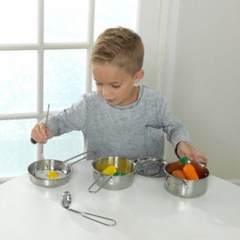 Deluxe Cookware Set With Food