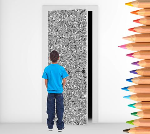 Colour Me – Flowers Door Murals