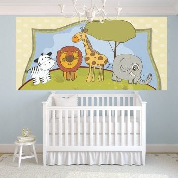 Nursery – Half Wall Mural