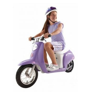 Razor Pocket Mod Betty Electric 24v Ride On Vintage Scooter Bike – Purple