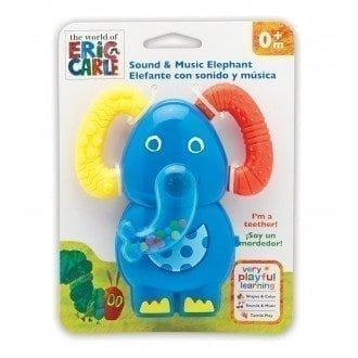 VERY HUNGRY CATERPILLAR Sound and Music Elephant Teether