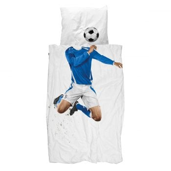 Soccer Champ Blue Quilt Cover Set