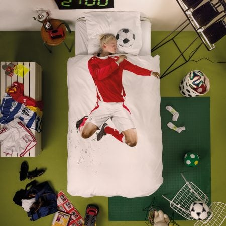 Soccer Champ Red Quilt Cover Set