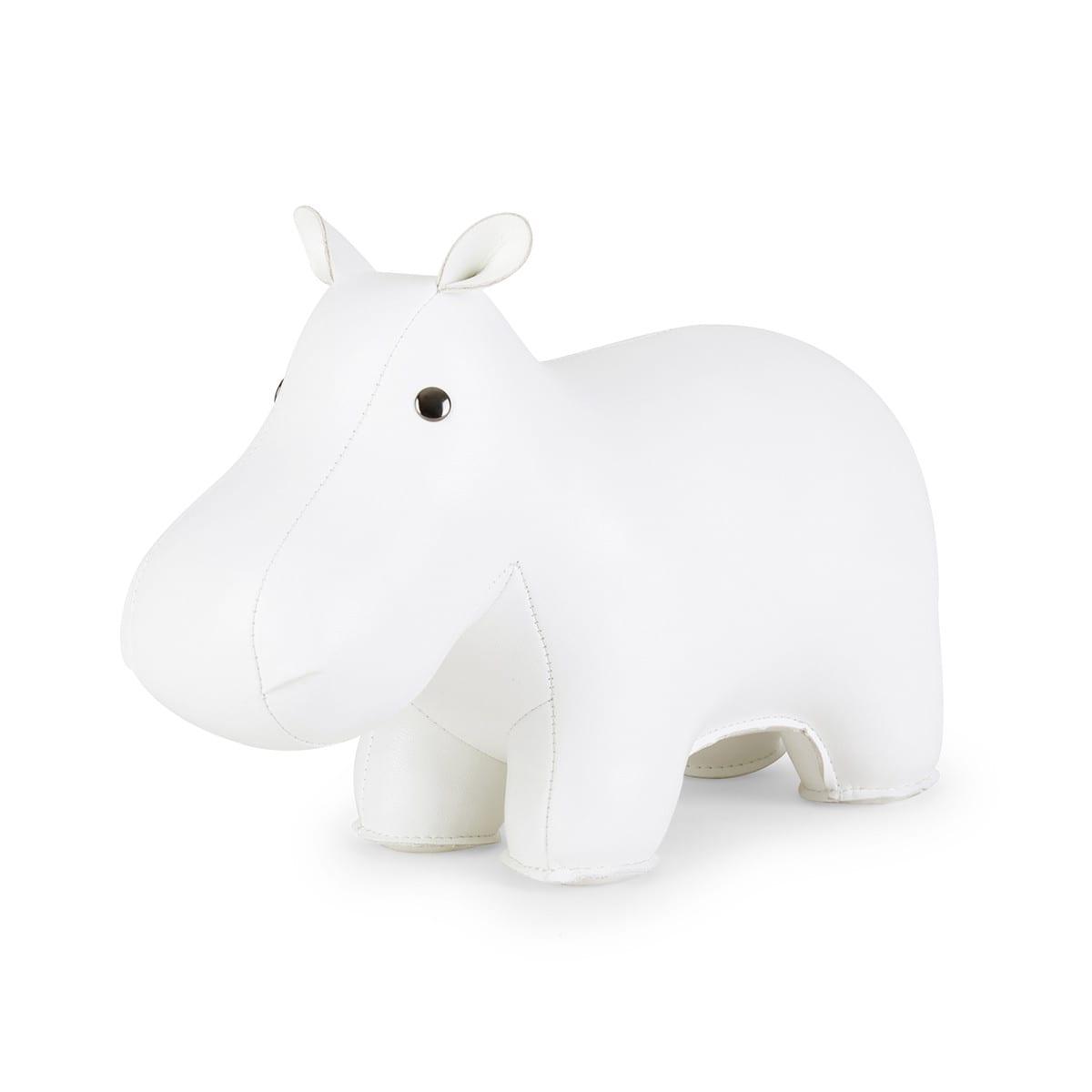 Bookend Classic Hippo White