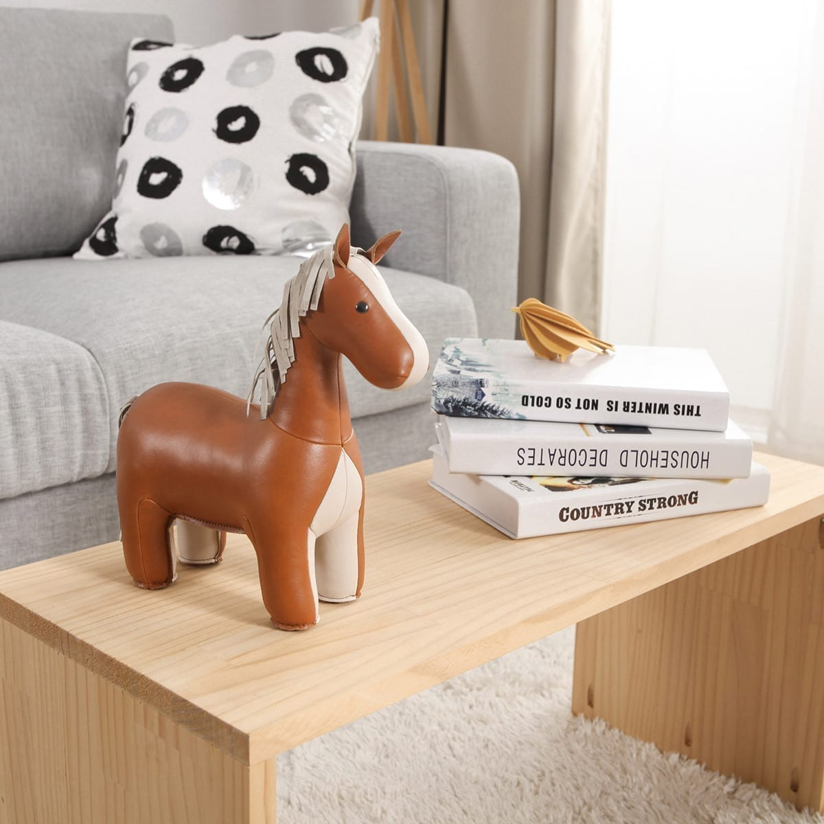 Bookend Classic Horse Tan