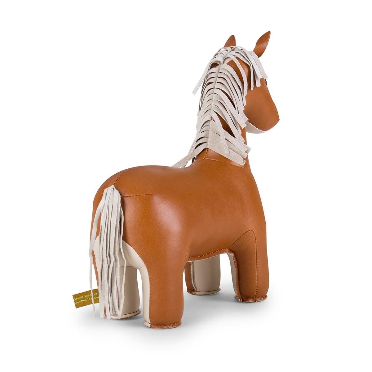 Bookend Classic Horse Tan